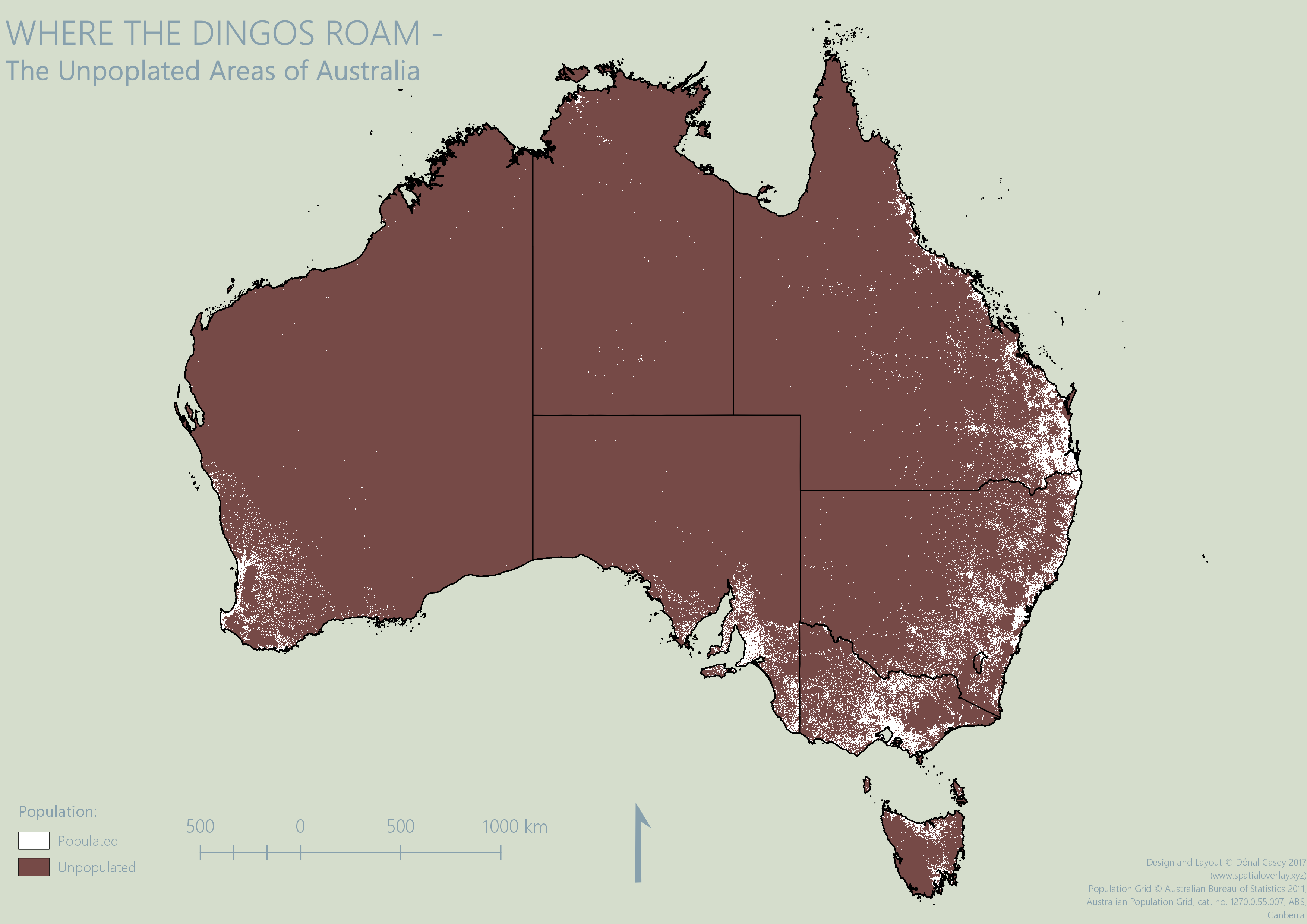 Unpopulated Areas of Australia