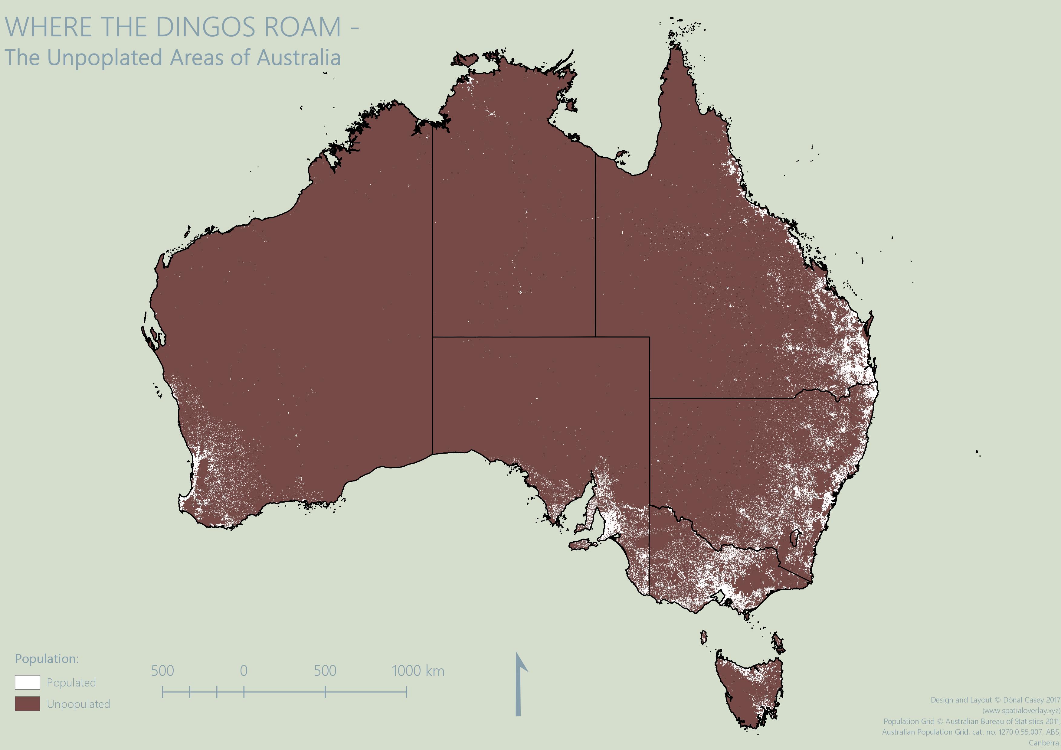 Unpopulated Areas of Australia