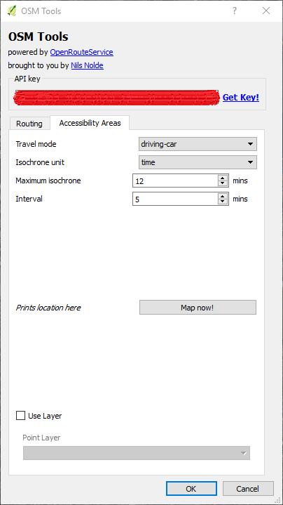 OpenRouteService QGIS Dialog