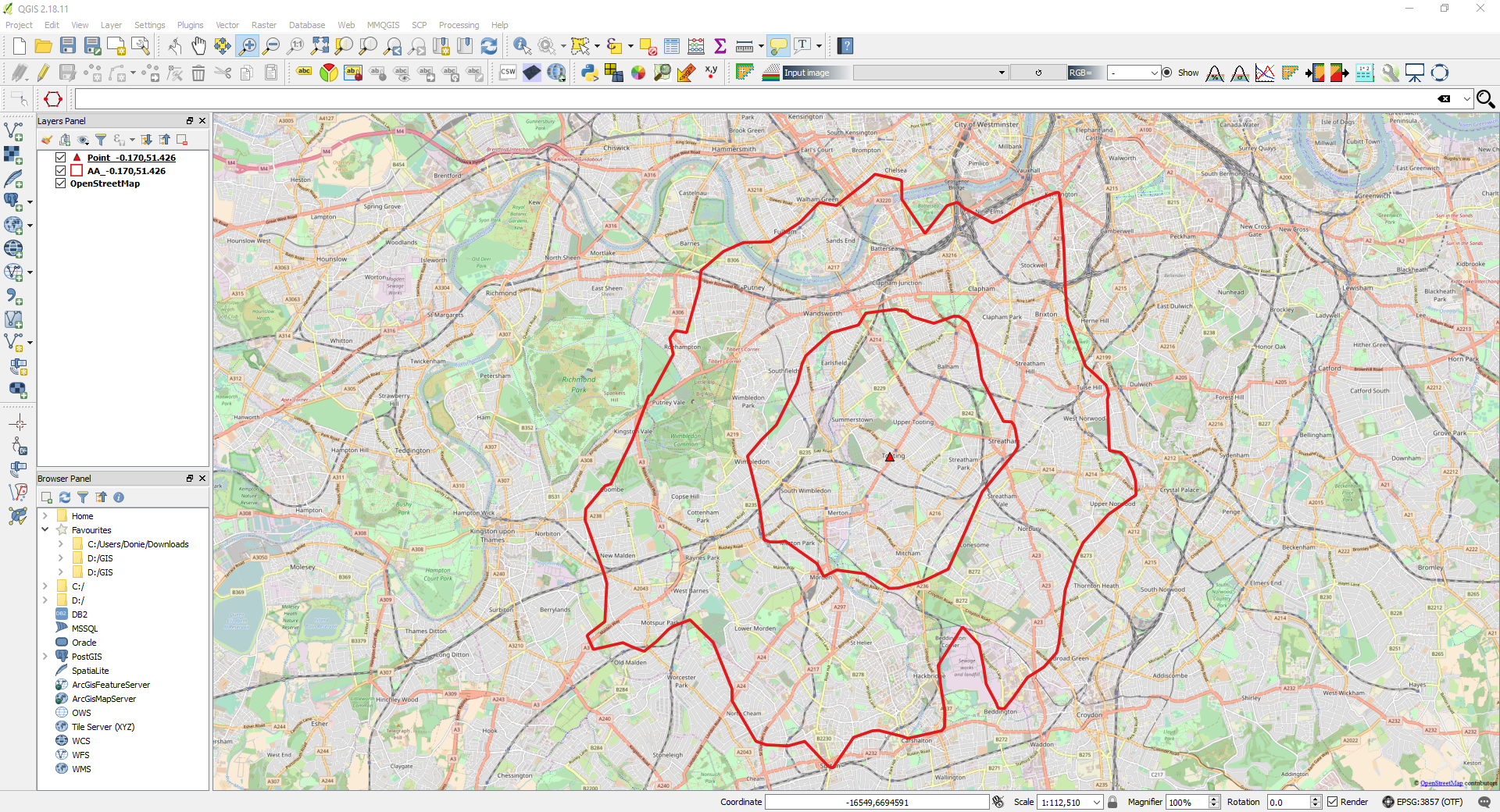 QGIS-Generating an Isochrone – Spatial Overlay